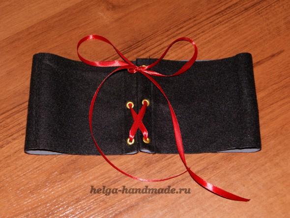 Пояс-корсет для костюма Красной шапочки