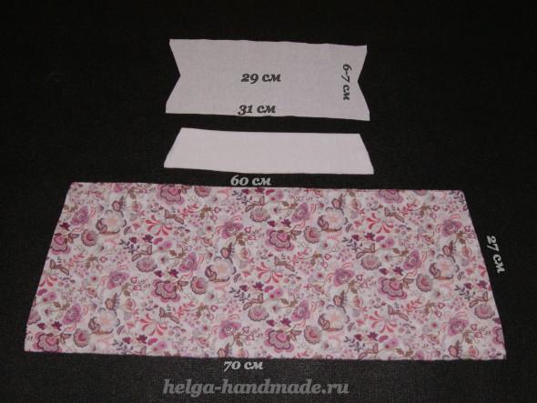 выкройка юбки для девочки на рост 104-110 см