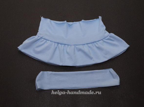 Детская одежда. Шьем первый ярус пышной юбочки