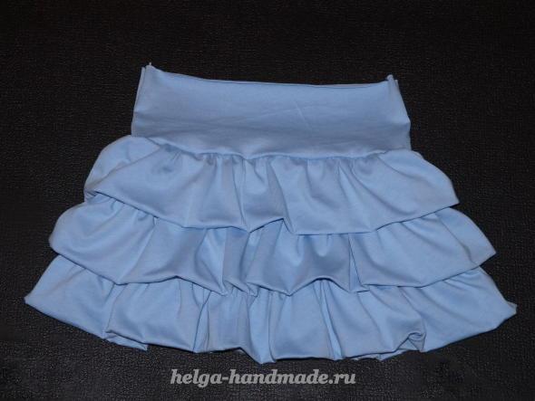Детская одежда. Шьем пышную юбочку для девочки
