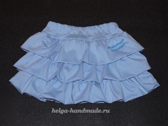 Детская одежда. Пышная юбочка для девочки