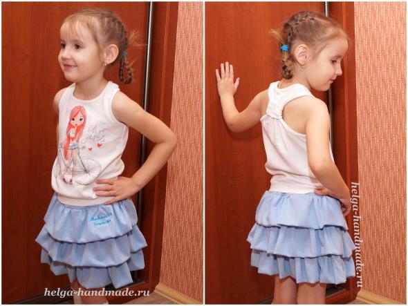Детская одежда. Пышная юбочка из кулирки