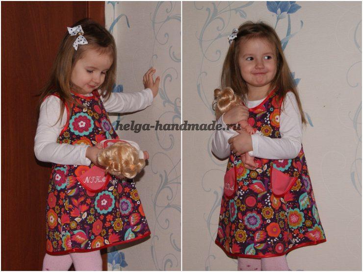 Теплый сарафан для девочки (выкройка) своими руками