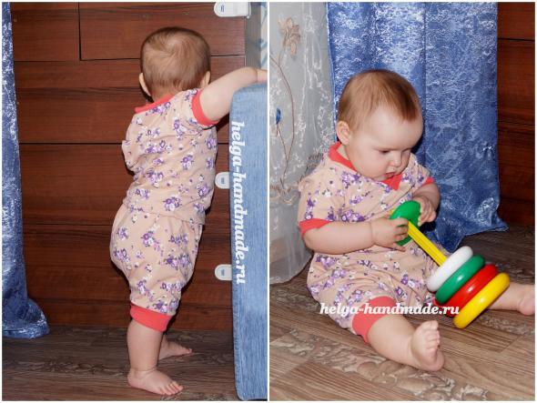 Детская одежда. Летний костюм для малышей.