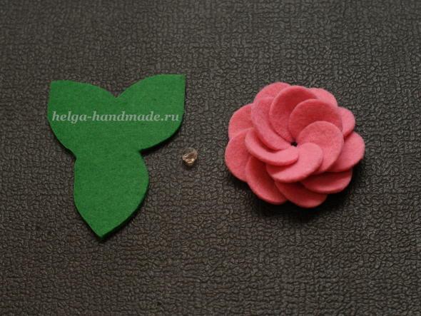 Шьем цветок из фетра