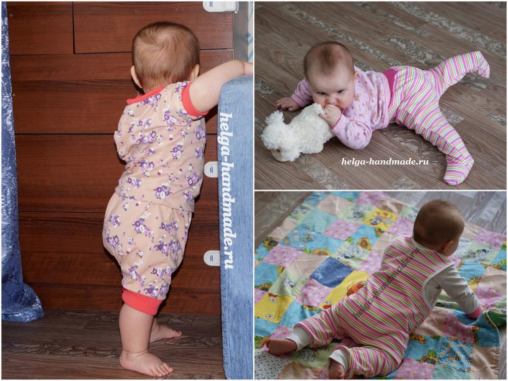 Маша нашему малышке сшила новые штанишки 10
