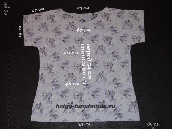 Выкройка летней блузы