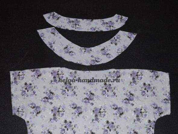 Шьем летнюю блузу. Оформляем горловину