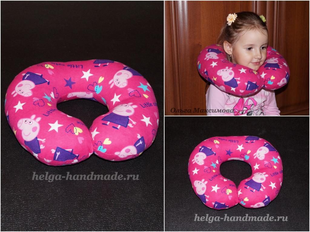 Дорожная подушка для ребенка своими руками 49