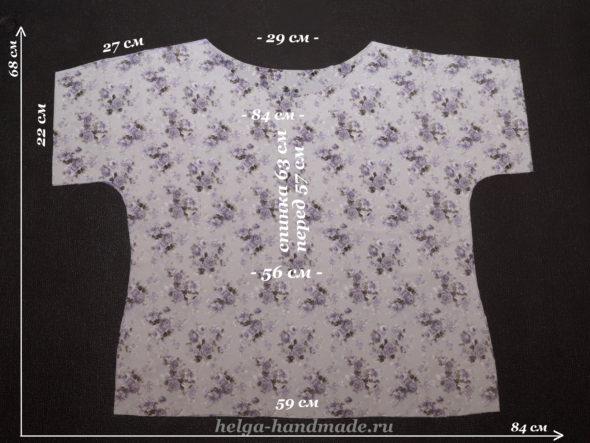 Выкройка летней блузки р-р 48-50