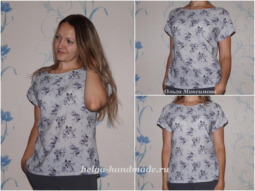 Ele Hand Made*** Кройка И Шитье: Шьем летнюю блузу своими руками. Выкройка на р-р 42-44 #от_подписчиков@sewing_school