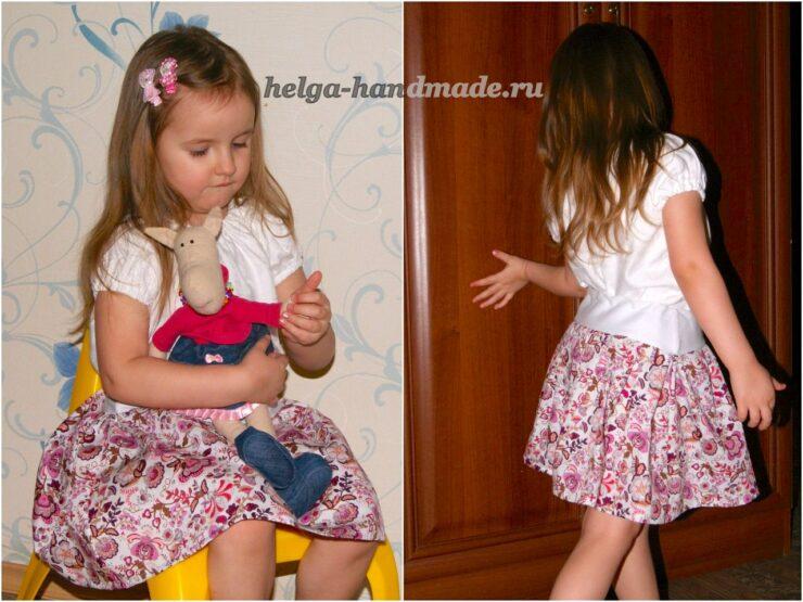 Как сшить летнюю юбку (3 варианта) для девочки своими руками