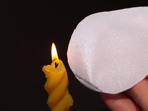 Обжигаем края ткани