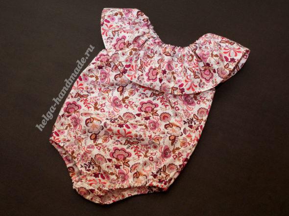 Детская одежда. Летнее модное боди для девочки (песочник)