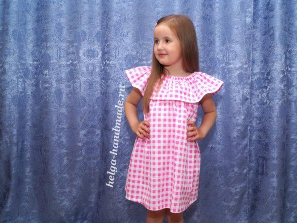 Летнее платье-сарафан для девочки