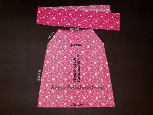 Выкройка детского летнего платья-сарафана