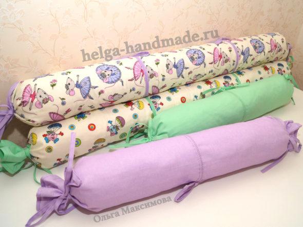 Валики-бортики в детскую кроватку своими руками