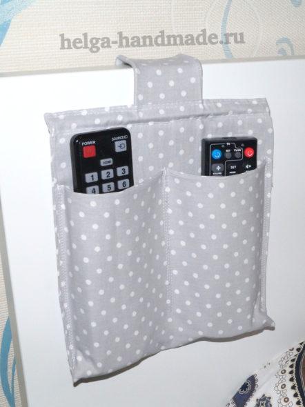 карман-органайзер для пультов на изголовье кровати