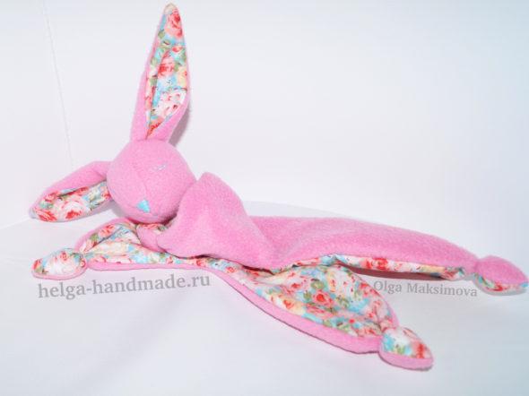 Заяц-комфортер/сплюшка для новорожденных своими руками