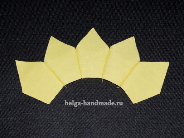 Корона из ткани для буквы-подушки своими руками