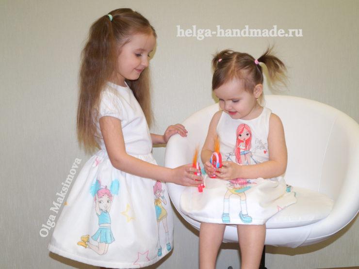 Детская одежда. Летние юбочки для девочек.