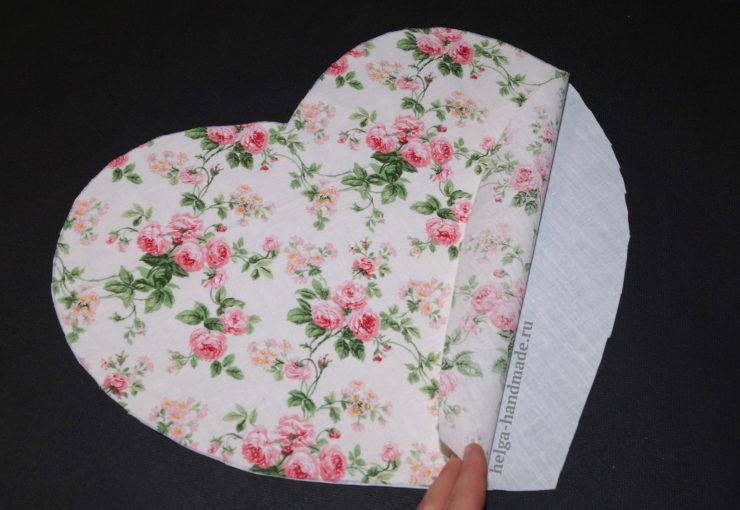 Сердце-подушка с индивидуальной вышивкой своими руками