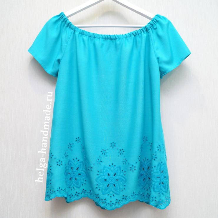 простая блузка для девочки сшить своими руками