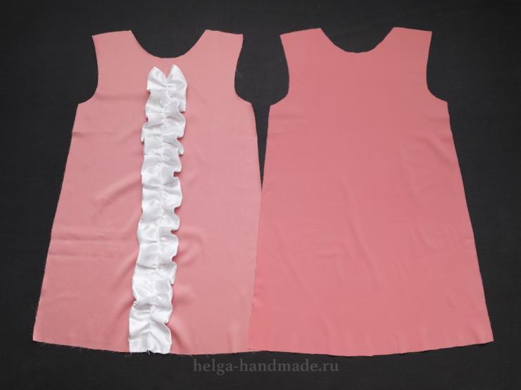 Нарядное платье с рюшами для девочки своими руками