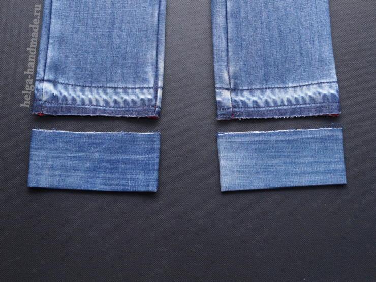 Как удлинить детские джинсы своими руками 70