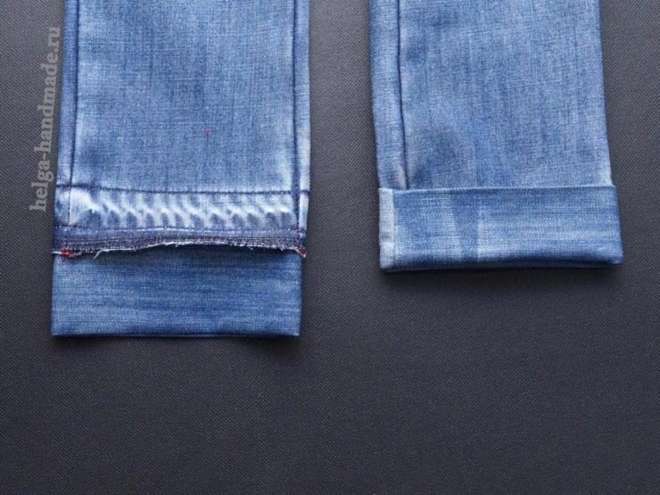 Как удлинить детские джинсы своими руками 85