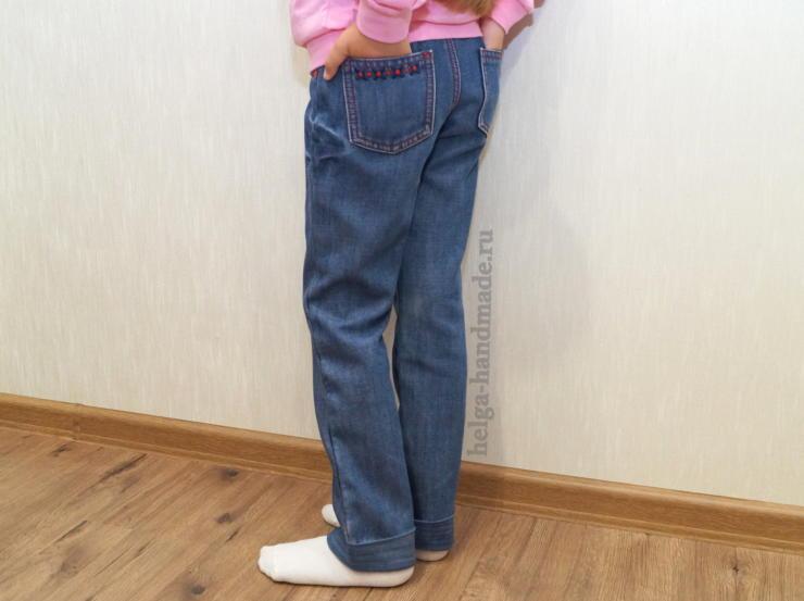 Как удлинить джинсы своими руками