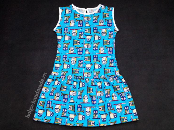 Трикотажное платье в садик для девочек своими руками