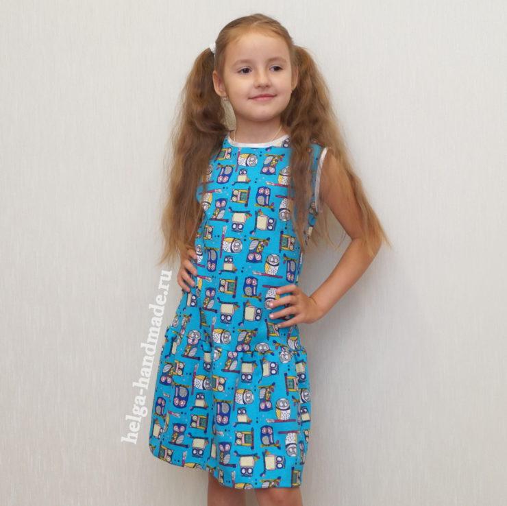 ebf47111056 Трикотажное платье в садик для девочек своими руками