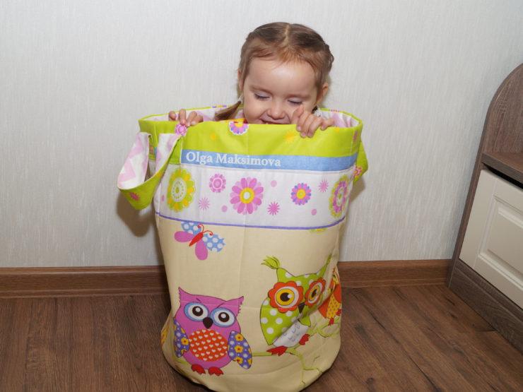Корзина для хранения игрушек ( выкройка) своими руками