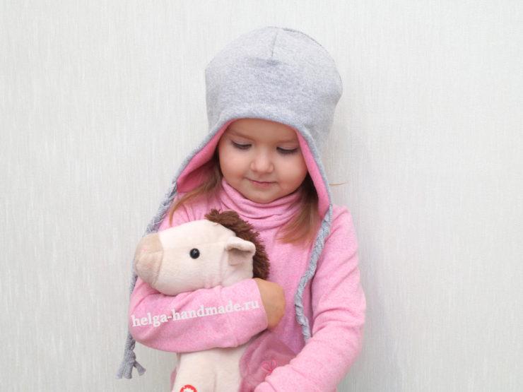 Детская двусторонняя шапка с завязками своими руками