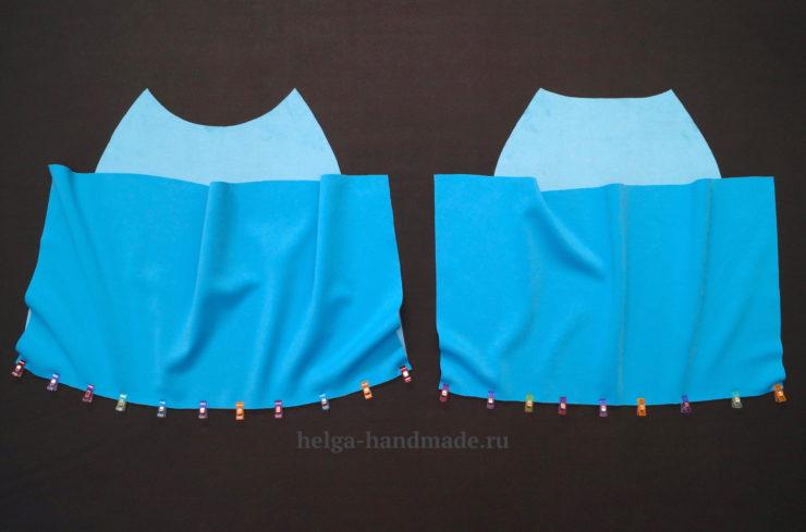 Выкройка прямого платья с рукавом реглан