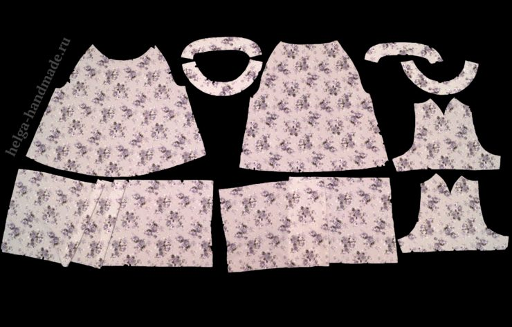Выкройка платья А-силуэта с рукавом реглан