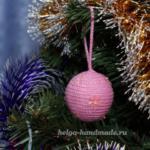Новогодние игрушки. Вяжем ёлочные шары крючком