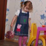 Джинсовый сарафан со Свинкой Пеппой для девочки
