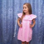 Летнее платье-сарафан с воланом для девочек (3 выкройки)