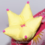Корона из ткани для буквы-подушки или игрушки (выкройка)