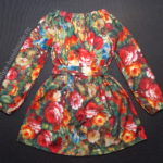 Платье-трапеция с рукавами для девочки (выкройка)