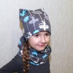 Комплект шапка и снуд для ребенка за 15 минут