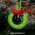 Рождественский венок на елку
